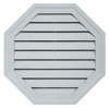 Durabuilt 22-in x 22-in Cape Blue/Pebble Octagon Plastic Gable Vent