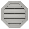 Durabuilt 22-in x 22-in Cactus/Pebble Octagon Plastic Gable Vent