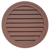 Durabuilt 22-in x 22-in Sedona Red/Pebble Round Plastic Gable Vent