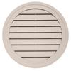 Durabuilt 22-in x 22-in Beige/Pebble Round Plastic Gable Vent