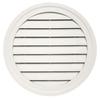 Durabuilt 22-in x 22-in Linen/Pebble Round Plastic Gable Vent