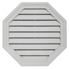 Durabuilt 22-in x 22-in Gray/Pebble Octagon Plastic Gable Vent