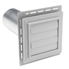 Durabuilt Louvered Exhaust Vent Graystone