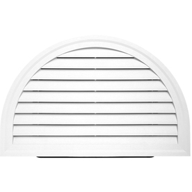 "HRDGV WHITE (PW) 34""X22"" HALFRND GABLE VENT (1 PC/CTN)"