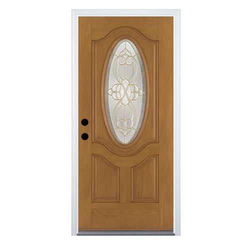 Therma tru benchmark oval round lite fiberglass entrance for Therma tru fiberglass entry doors prices