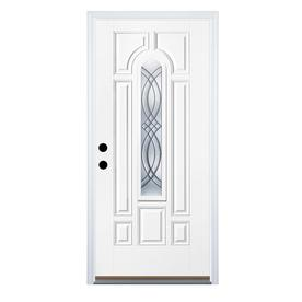 Benchmark by Therma-Tru 36-in Center Arch Lite Decorative Inswing Entry Door