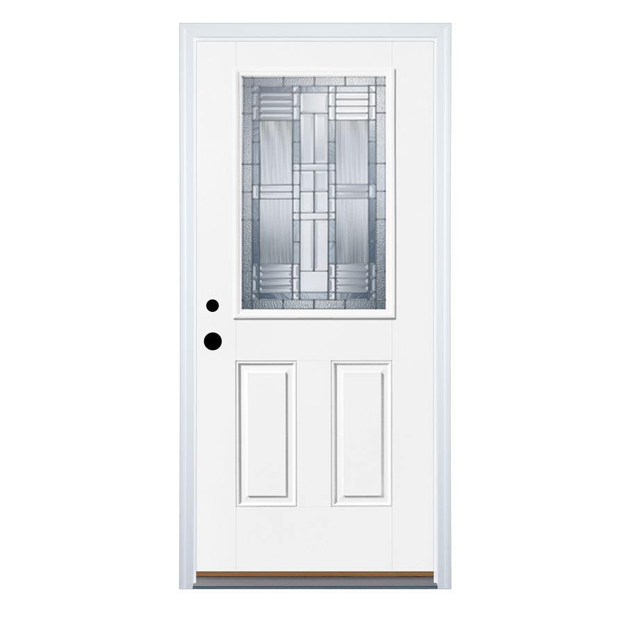 Shop Therma Tru Benchmark Doors Half Lite Decorative Prehung Inswing Fibergla