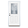 Benchmark by Therma-Tru 36-in Half Lite Decorative Inswing Entry Door