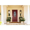 Therma-Tru Benchmark Doors TerraCourt 2-Panel Insulating Core Oval Lite Right-Hand Inswing Dark Mahogany Fiberglass Stained Prehung Entry Door (Common: 36-in x 80-in; Actual: 37.5-in x 81.5-in)