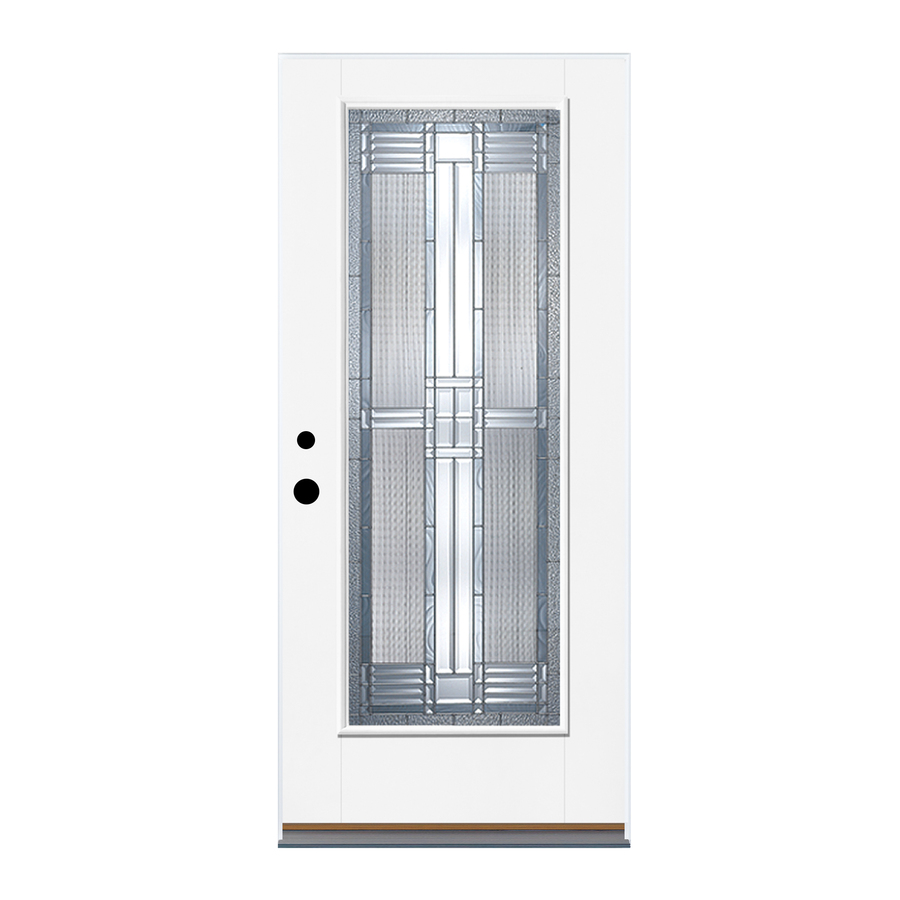 Shop Therma Tru Benchmark Doors Full Lite Decorative Prehung Outswing Fiberglass Entry Door