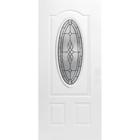ReliaBilt 36-in x 80-in Oval Lite Inswing Steel Door
