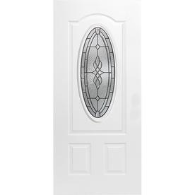 """ReliaBilt® 36"""" Left Hand Hampton 3/4 Oval Steel Entry Door Unit"""