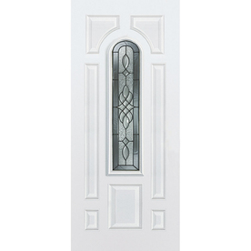 ReliaBilt 36-in x 80-in Center Arch Lite Inswing Steel Entry Door