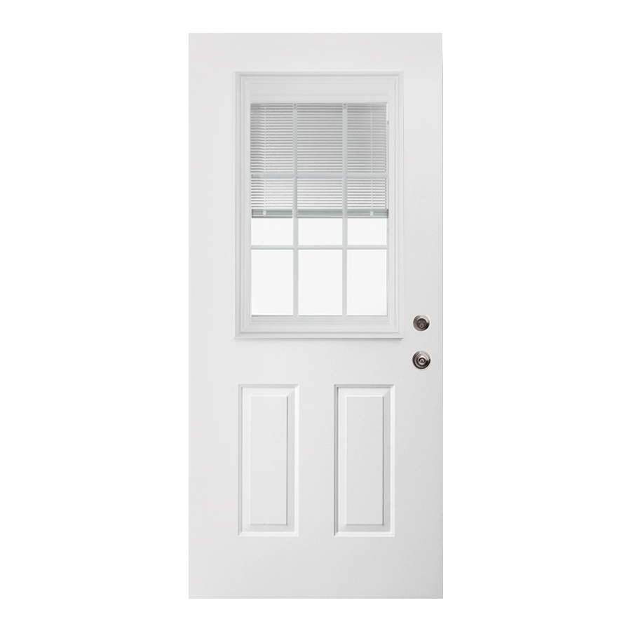 Steel doorse lowes entry doors steel for Lowes fiberglass exterior doors