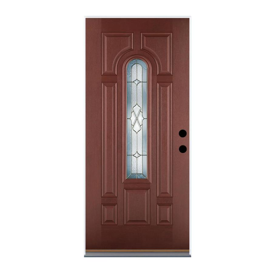 Shop therma tru benchmark doors center arch lite for Lowes exterior doors