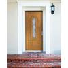 Therma-Tru Benchmark Doors Willowbrook 8-Panel Insulating Core Center Arch Lite Left-Hand Inswing Medium Oak Fiberglass Stained Prehung Entry Door (Common: 36-in x 80-in; Actual: 37.5-in x 81.5-in)