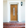 Therma-Tru Benchmark Doors Willowbrook 8-Panel Insulating Core Center Arch Lite Right-Hand Inswing Medium Oak Fiberglass Stained Prehung Entry Door (Common: 36-in x 80-in; Actual: 37.5-in x 81.5-in)