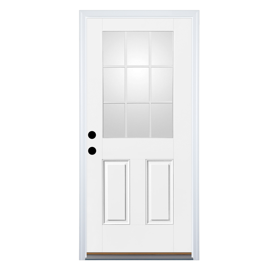 Shop Therma Tru Benchmark Doors Half Lite Clear Prehung Inswing Fiberglass En