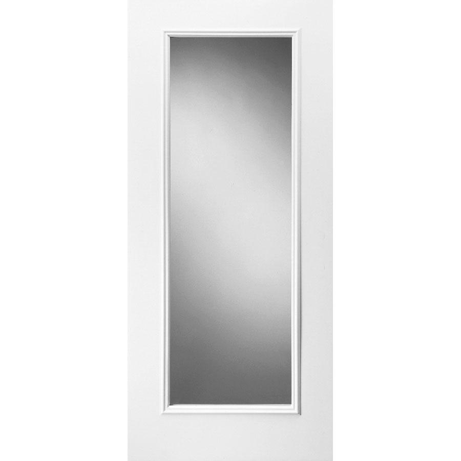 Shop reliabilt full lite prehung inswing steel entry door for Lowes steel doors