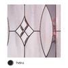 Therma-Tru Benchmark Doors Delano 2-Panel Insulating Core Oval Lite Left-Hand Inswing Dark Mahogany Fiberglass Stained Prehung Entry Door (Common: 36-in x 80-in; Actual: 37.5-in x 81.5-in)
