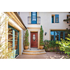 Therma-Tru Benchmark Doors Delano 2-Panel Insulating Core Oval Lite Right-Hand Inswing Dark Mahogany Fiberglass Stained Prehung Entry Door (Common: 36-in x 80-in; Actual: 37.5-in x 81.5-in)