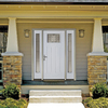 Therma-Tru Benchmark Doors Emerson Craftsman Insulating Core 1-Lite Left-Hand Inswing White Fiberglass Primed Prehung Entry Door (Common: 36-in x 80-in; Actual: 37.5-in x 81.5-in)