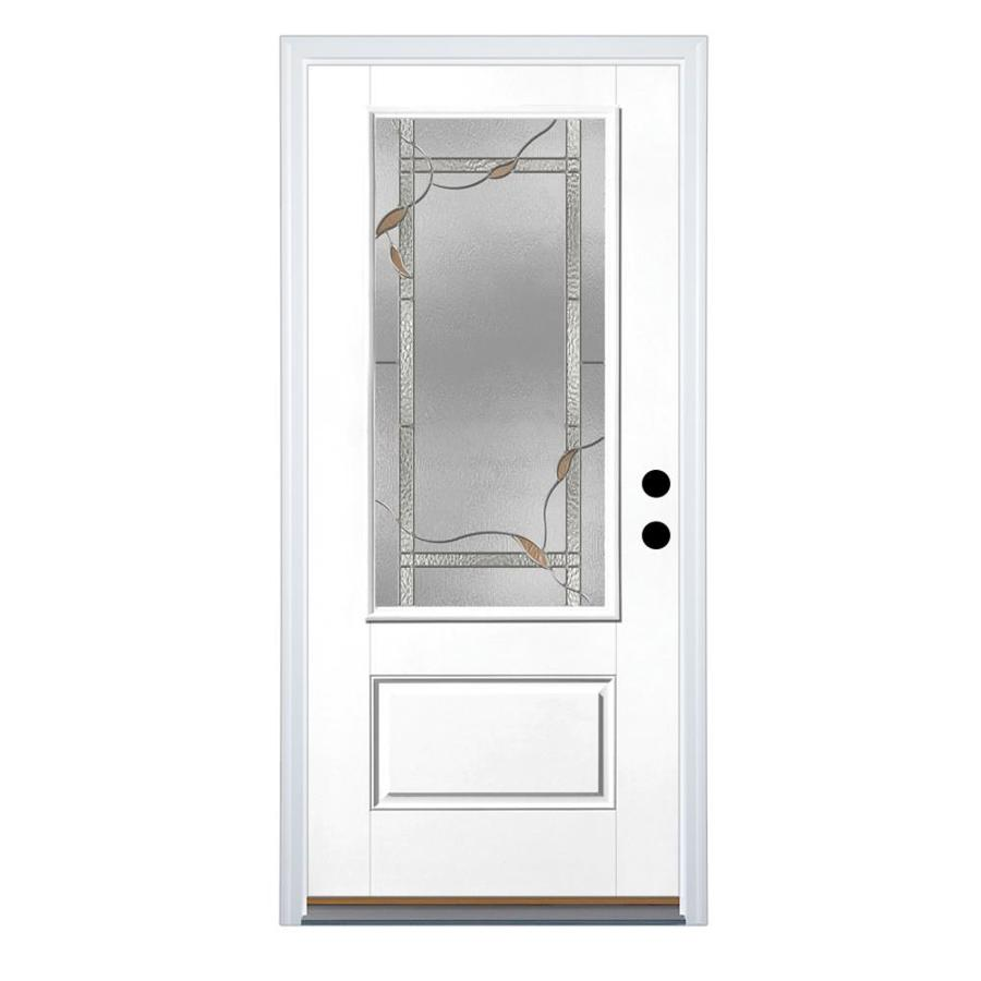 Shop therma tru benchmark doors 3 4 lite decorative for Lowes exterior doors