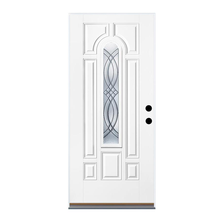Shop Therma Tru Benchmark Doors Center Arch Lite Decorative Prehung Outswing Fiberglass Entry