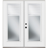 Benchmark by Therma-Tru 70-9/16-in Dual-Pane Blinds Between Glass Fiberglass French Inswing Patio Door