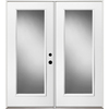 ReliaBilt 59-1/2-in Low-E 1-Lite Steel French Inswing Patio Door