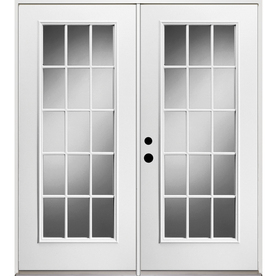 Shop reliabilt 15 lite glass unfinished steel for 15 lite glass door
