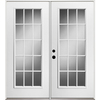 ReliaBilt 71-1/2-in Low-E 15-Lite Steel French Inswing Patio Door