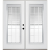 ReliaBilt 71-1/2-in Dual-Pane Blinds Between Glass Steel French Inswing Patio Door
