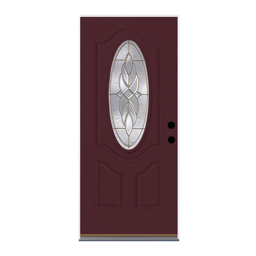 shop therma tru benchmark doors oval lite decorative