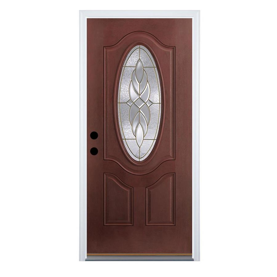 Benchmark By Therma Tru Oval Lite Decorative Mahogany