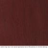 Therma-Tru Benchmark Doors Varissa 2-Panel Insulating Core Oval Lite Left-Hand Inswing Dark Mahogany Fiberglass Stained Prehung Entry Door (Common: 36-in x 80-in; Actual: 37.5-in x 81.5-in)
