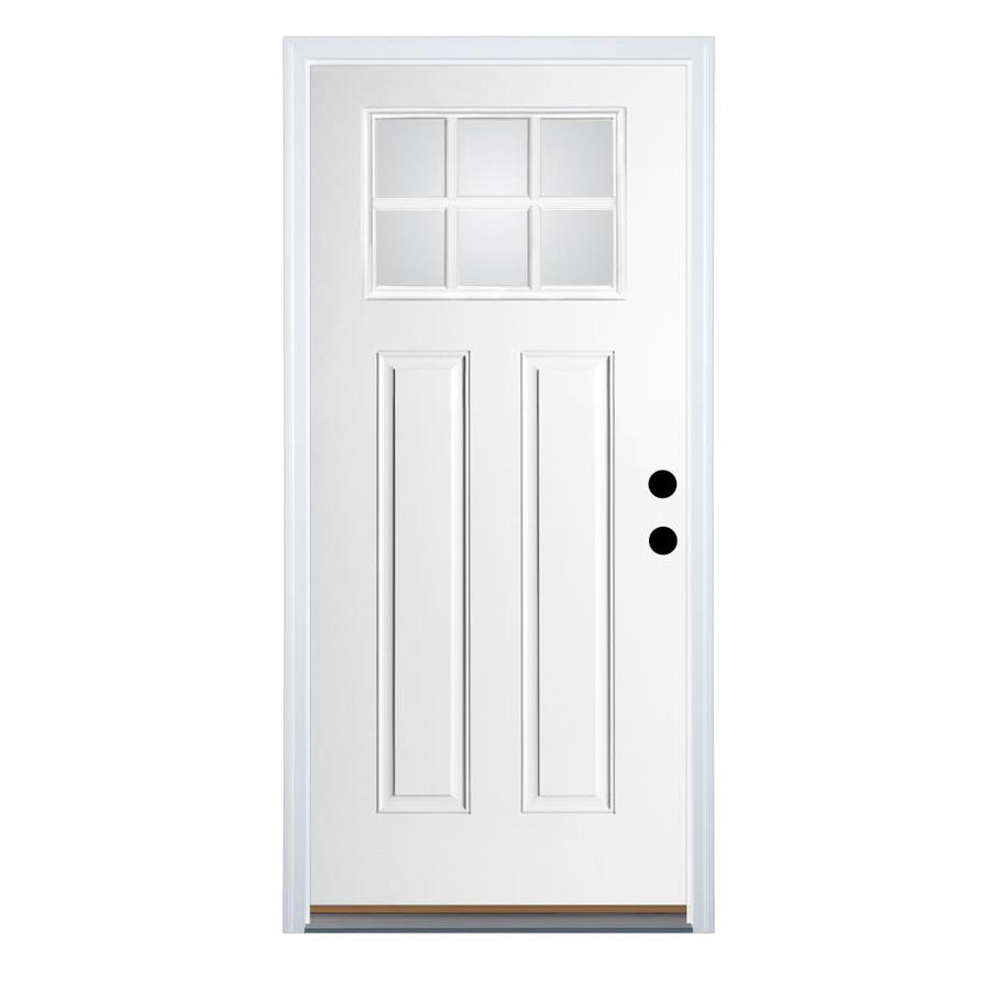 Shop Therma Tru Benchmark Doors Craftsman 6 Lite Clear Inswing Fiberglass Entry Door Common 36