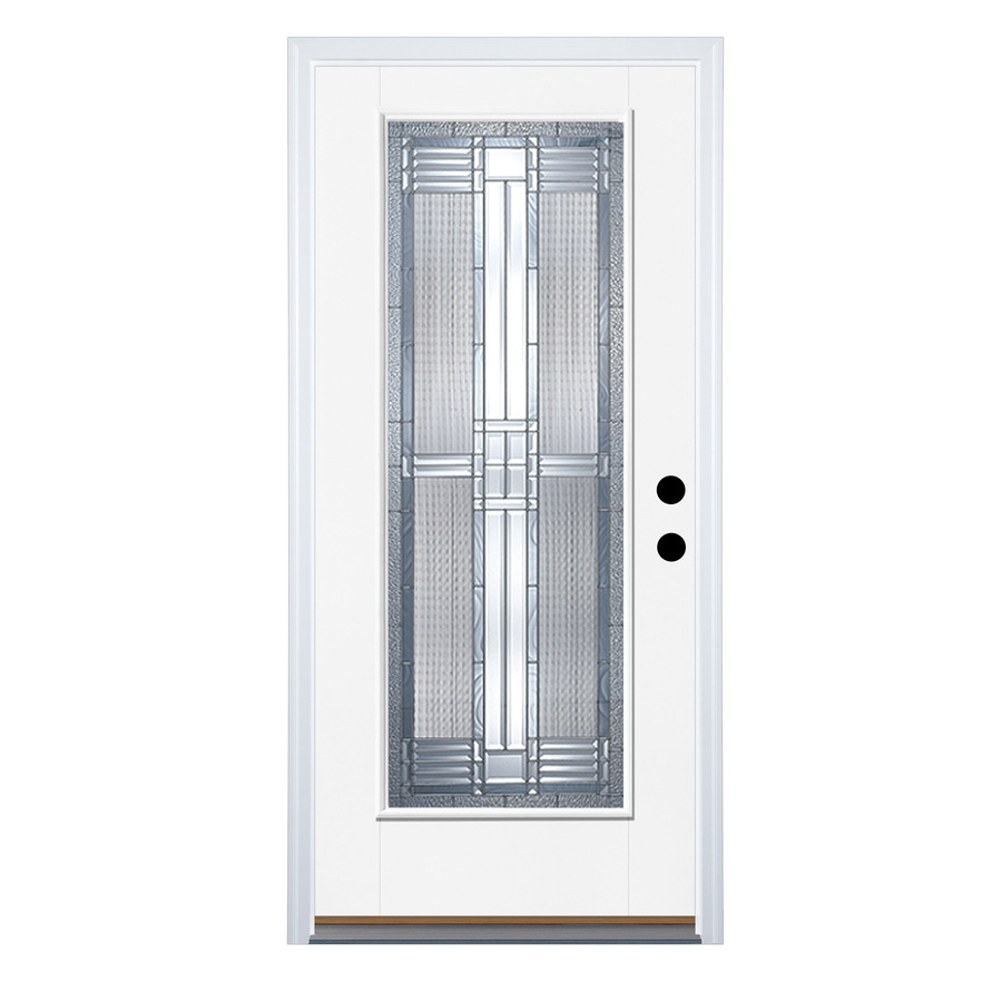 Shop therma tru benchmark doors full lite decorative for Fiberglass entry doors