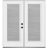Benchmark by Therma-Tru 70.5625-in Blinds Between the Glass Fiberglass French Inswing Patio Door