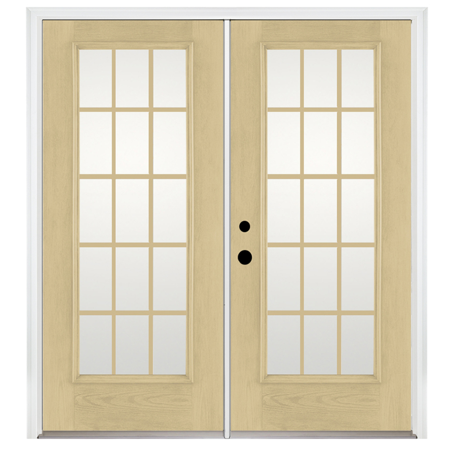 Fiberglass French Doors : Shop benchmark by therma tru in lite grilles