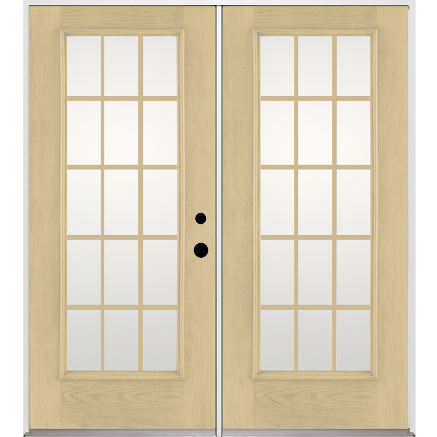 shop benchmark by therma tru 15 lite grilles On fiberglass french doors