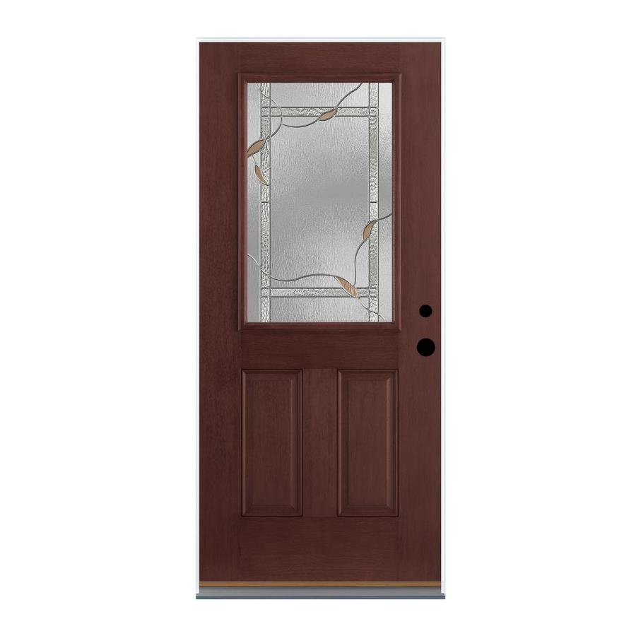 Shop Therma Tru Benchmark Doors Half Lite Decorative Mahogany Prehung Inswing