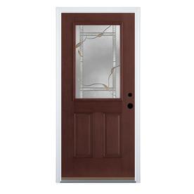 Shop Therma Tru Benchmark Doors Delano 2 Panel Insulating Core Half Lite Left