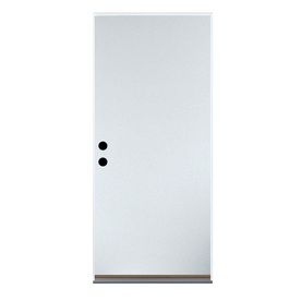 Shop Flush Insulating Core Left Hand Outswing White Steel Unfinished Prehung Entry Door Common