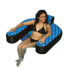 Swimline Fabric Covered Suspend Chair Blue/Black Inflatable Lounger