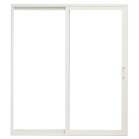 ThermaStar by Pella 10 Series 71.5-in Clear Glass White Vinyl Sliding Patio Door with Screen
