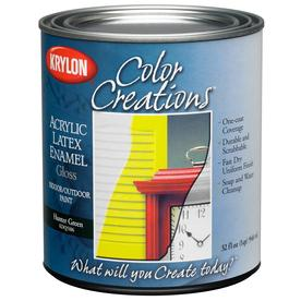 Shop krylon hunter green gloss latex enamel interior exterior paint and primer in one actual - Hunter green exterior paint paint ...
