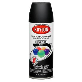 shop krylon 12 oz black matte spray paint at. Black Bedroom Furniture Sets. Home Design Ideas