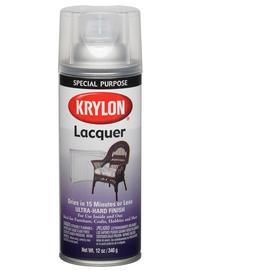 shop krylon 12 oz clear gloss spray lacquer at. Black Bedroom Furniture Sets. Home Design Ideas