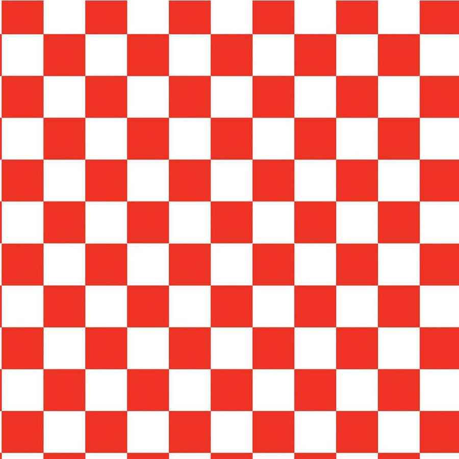 Red And White Checkerboard Pattern Car Interior Design